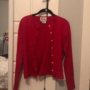 Lily Pullitzer red button up sweater/cardigan